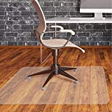 Office Chair Mat for Hardwood Floor by Somolux Computer Desk Swivel Chair PVC Plastic Mat Clear Oversized and Rolling Delivery, Protect Hard Flooring in Home and Office 48 x 36 inches Rectangle