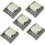 Aideepen 5個セット Mini MP3プレーヤーDFPlayer WMVデコーダーTFマイクロSDカードUディスク音声ボイス音楽モジュール Arduino UNOに対応