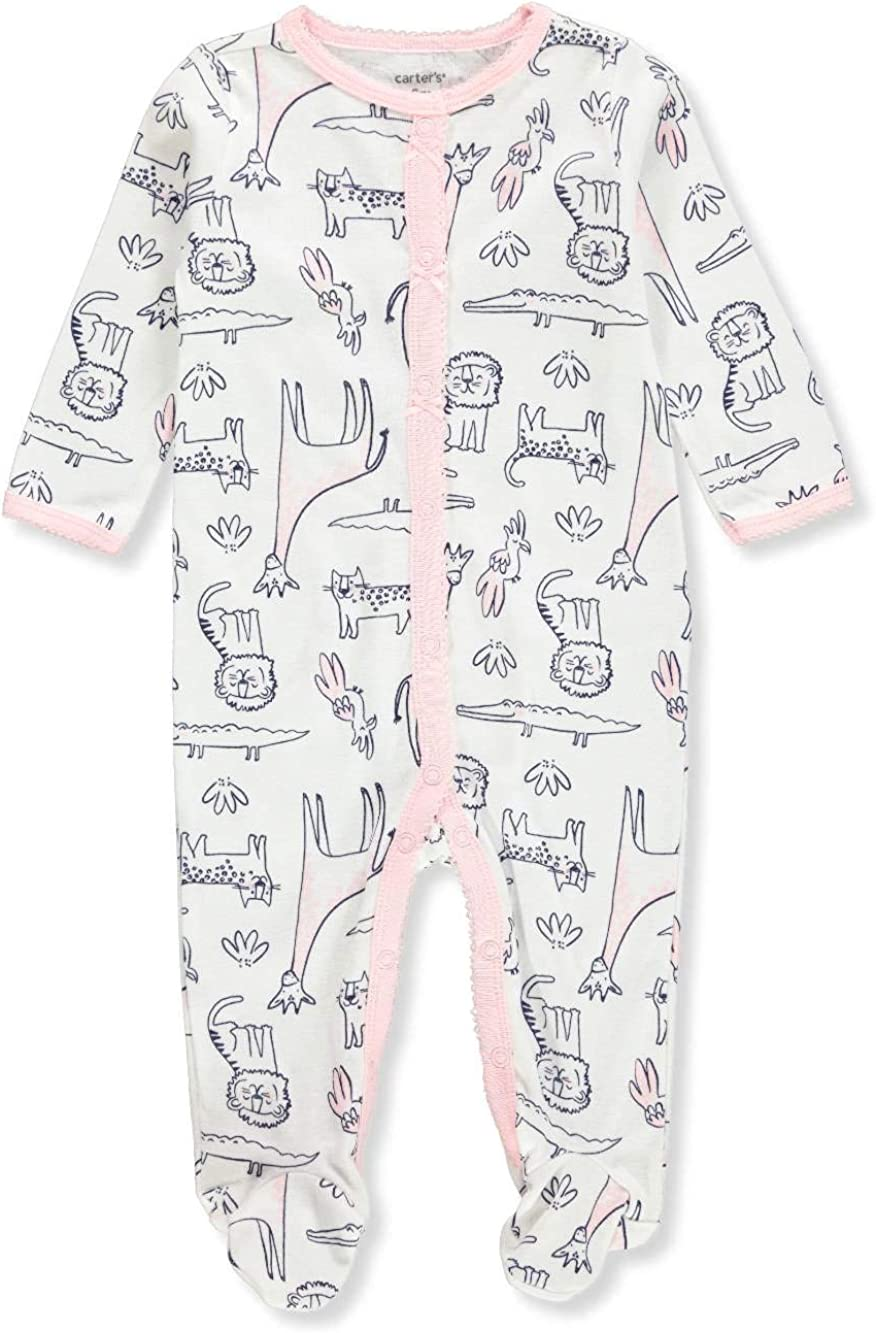 Carters Baby Girls Footed Coverall