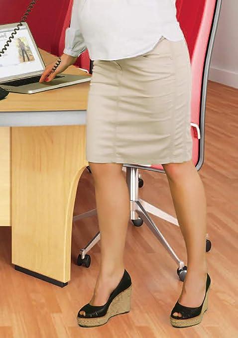 Moderna falda de corte estrecho hasta la rodilla. beige beige ...