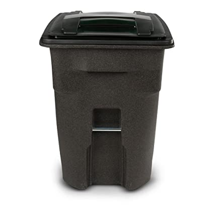 Amazon Com Toter 96 Gal Wheeled Brownstone Trash Can Home Kitchen