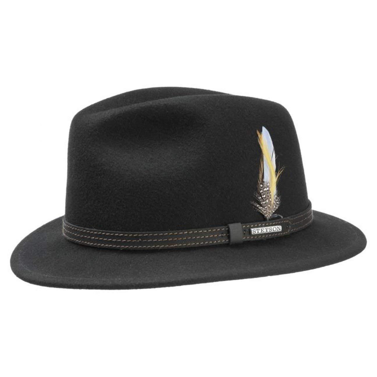 0c8b2df20be2bb Stetson Vidor VitaFelt Wool Felt Hat weatherproof traveller: Amazon.co.uk:  Clothing
