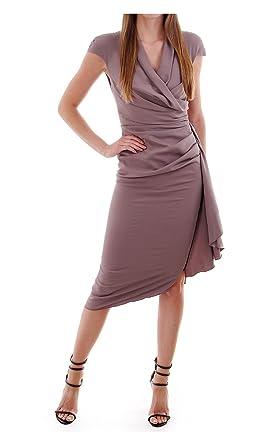 1fe9683ea5 Kevan Jon Yasmin Wrap Knee Dress in Cady Crepe Taupe  Amazon.co.uk ...