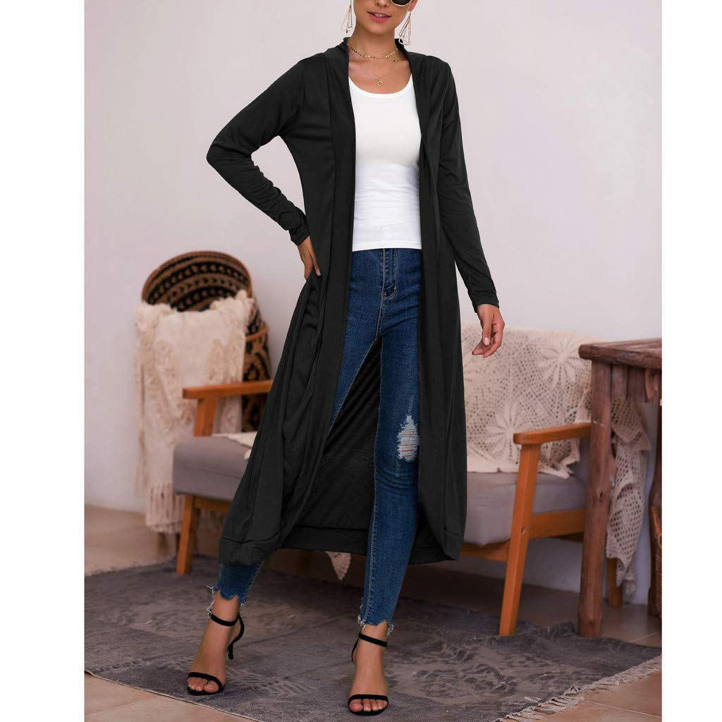 Loose Outwear Cardigans Loose Top Shirt Open Front nikunLONG Sweaters Classic Open Front Lightweight Mind Soft Cardigan