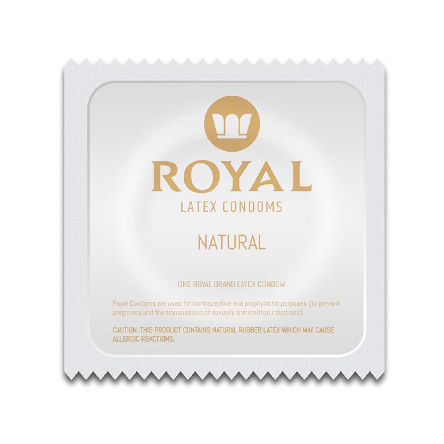 Royal Condoms - Ultra Thin, All Natural, Organic, Gluten Free, Nitrosamine Free, BPA Free, Cruelty Free, Vegan, Latex Covered in Odor Free Water Based Premium Lube, Bulk 100 Count by Royal Condoms