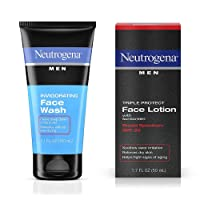 Neutrogena Men Triple Protect Face Lotion With Sunscreen, SPF 20 1.70 oz & Neutrogena Men Oil-Free Invigorating Foaming Face Wash 5.10 oz 1 ea
