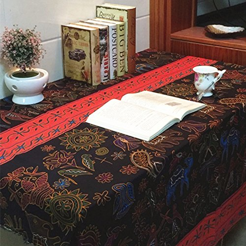 VULK Homes kitchen restaurant Thai color cotton linen cloth tablecloth / tablecloth / for home party restaurant restaurant , 100140cm Tablecloth by VULk-Tablecloth