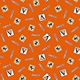 Allis Chalmers Tractor Fabric, orange logo