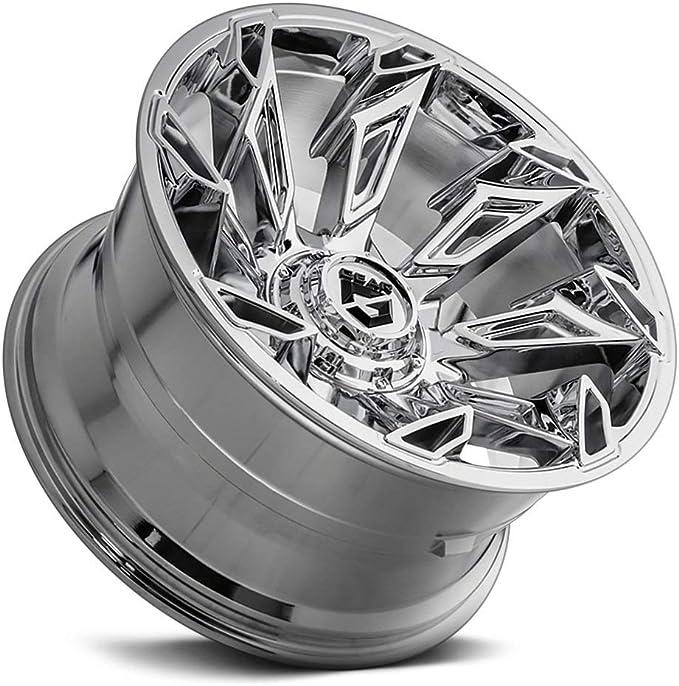 6x5.5 -44mm Chrome Wheel Rim Gear Alloy 752C Slayer 20x12 6x135//6x139.7