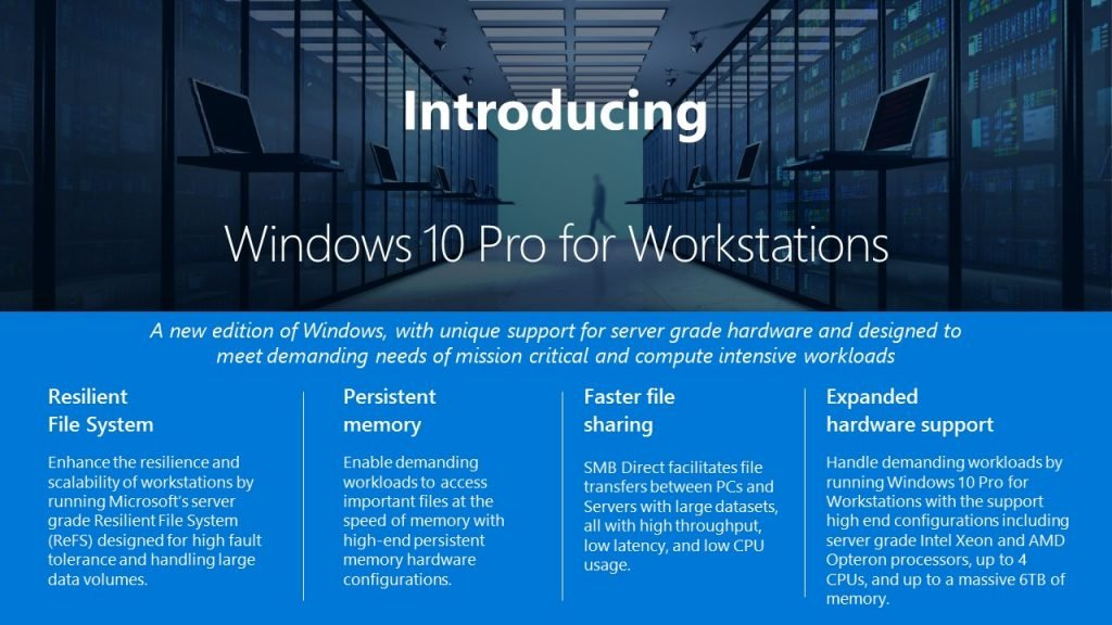 Microsoft Windows 10 Pro 64-bit for Workstations OEM License by Microsoft