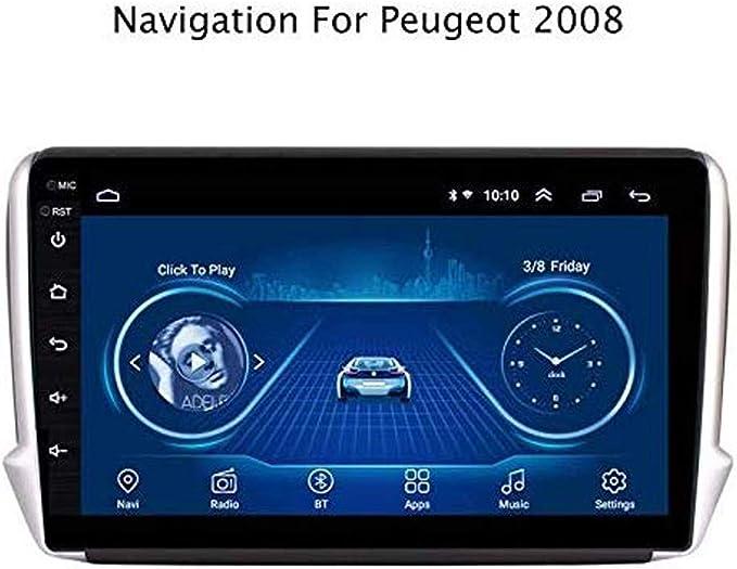 GLFDYC Android 8.1 GPS Navigation Car Stereo Radio, para Peugeot 208 2014-2018, 9