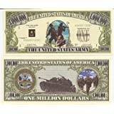 U.S. Army $Million Dollar$ Novelty Bill Collectible by American Art Classics