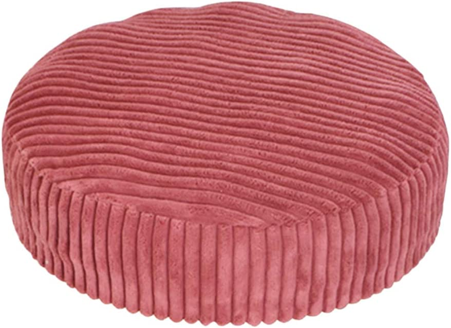 Flameer Non-Slip Thicken Round Stool Seat Cover Chair Stool Slipcover 12-16 Inch Available 04 40cm 16 Inch Wine Red