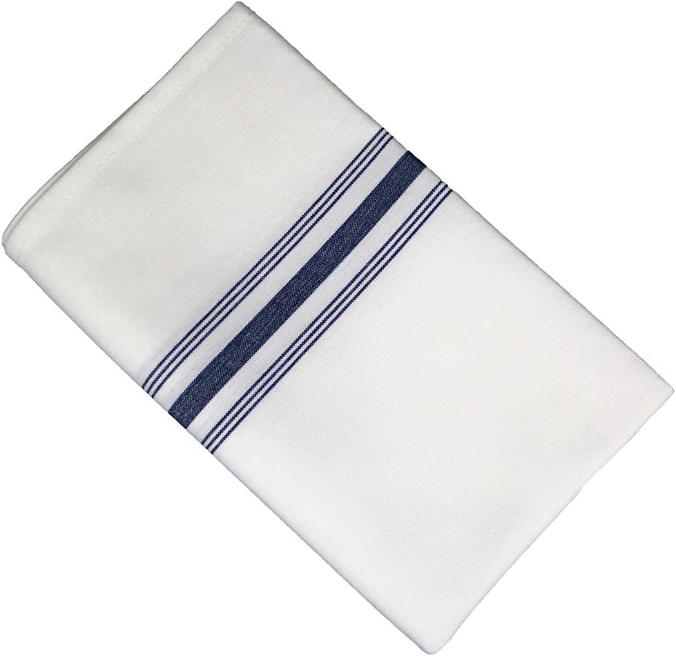 RC ROYAL CREST by Sigmatex-Lanier Textiles Cloth Dinner Bistro Napkins Restaurant Quality 18 x 22 Inches 12 Pack (Navy Blue Stripes): Home & Kitchen