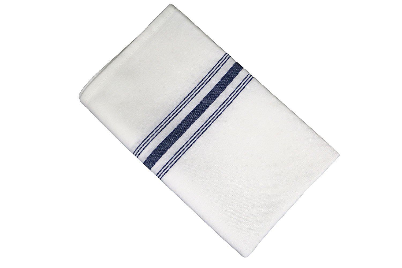 RC ROYAL CREST Sigmatex-Lanier Textiles Cloth Dinner Bistro Napkins Restaurant Quality 18 x 22 inches 12 Pack (Navy Blue Stripes)