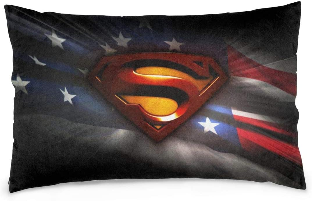 Superman Throw Pillow Cover Without Insert