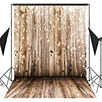 Photographer Studio Backdrops - 5x7 Feet Nostalgia Wood Floor Pattern Computer Printed Backdrop on Light Weight Poly Fabric QRJ-012