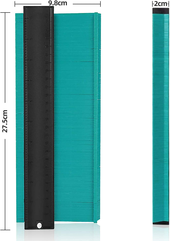 Jauge de Contour 25cm Duplication de Forme et Profil Irr/égulier pour Gabarit de D/écoupe Outil de Tra/çage Professionnel en Plastique ABS pour Parquet Menuiserie