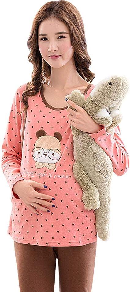Ropa para Dormir Pijamas de Maternidad Embarazo algodón Punto ...