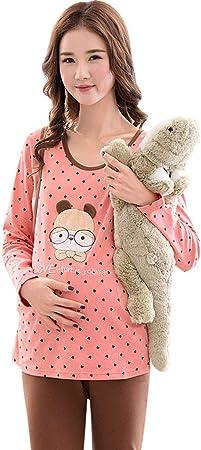 Ropa para Dormir Pijamas de Maternidad Embarazo algodón Punto Ropa de Dormir de Manga Larga Ropa de Dormir Ropa de Lactancia Maravillosa Regalo de Las Mujeres Embarazadas Ropa para Dormir: Amazon.es: Hogar