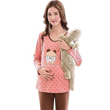 6e322be8f Ropa para Dormir Pijamas de Maternidad Embarazo algodón Punto Ropa de Dormir  de Manga Larga Ropa de Dormir Ropa de Lactancia Maravillosa Regalo de Las  ...