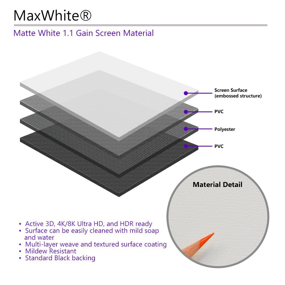 Elite Screens m84nwh Projection Screen/ White /Projection Screens