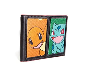 Bioworld POKEMON Starting Characters Bi-Fold Wallet Monedero, 12 cm, Varios colores (Multi Colour)