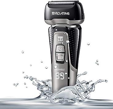 Anera - Afeitadora eléctrica recargable para hombre de aluminio de ...