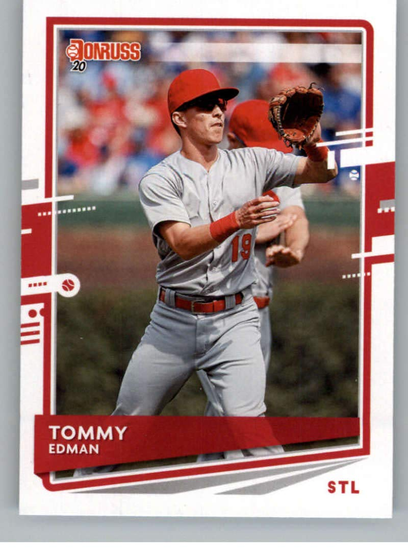 2020 Donruss Baseball #210 Tommy Edman St Louis Cardinals Official MLBPA Trading Card From Panini America