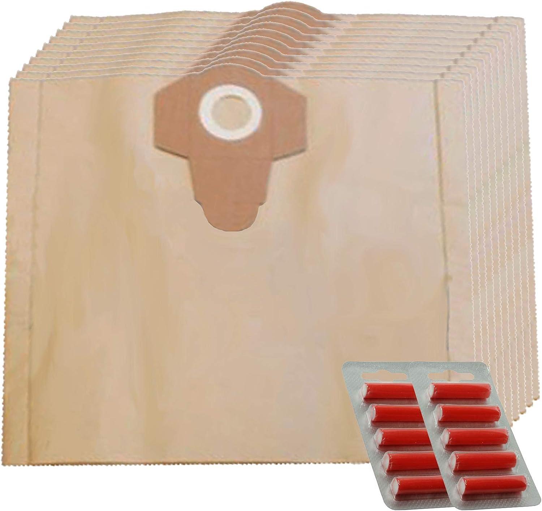 Spares2go 25L Bolsas de Polvo para aspiradora Stihl SE122, 5 Bags + 5 Fresheners: Amazon.es: Hogar
