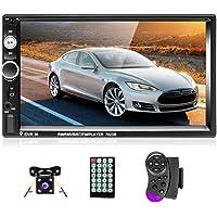 Podofo Radio de coche Doble Din Estéreo de coche Bluetooth Reproductor de video para automóvil HD Digital MP5 de 7…