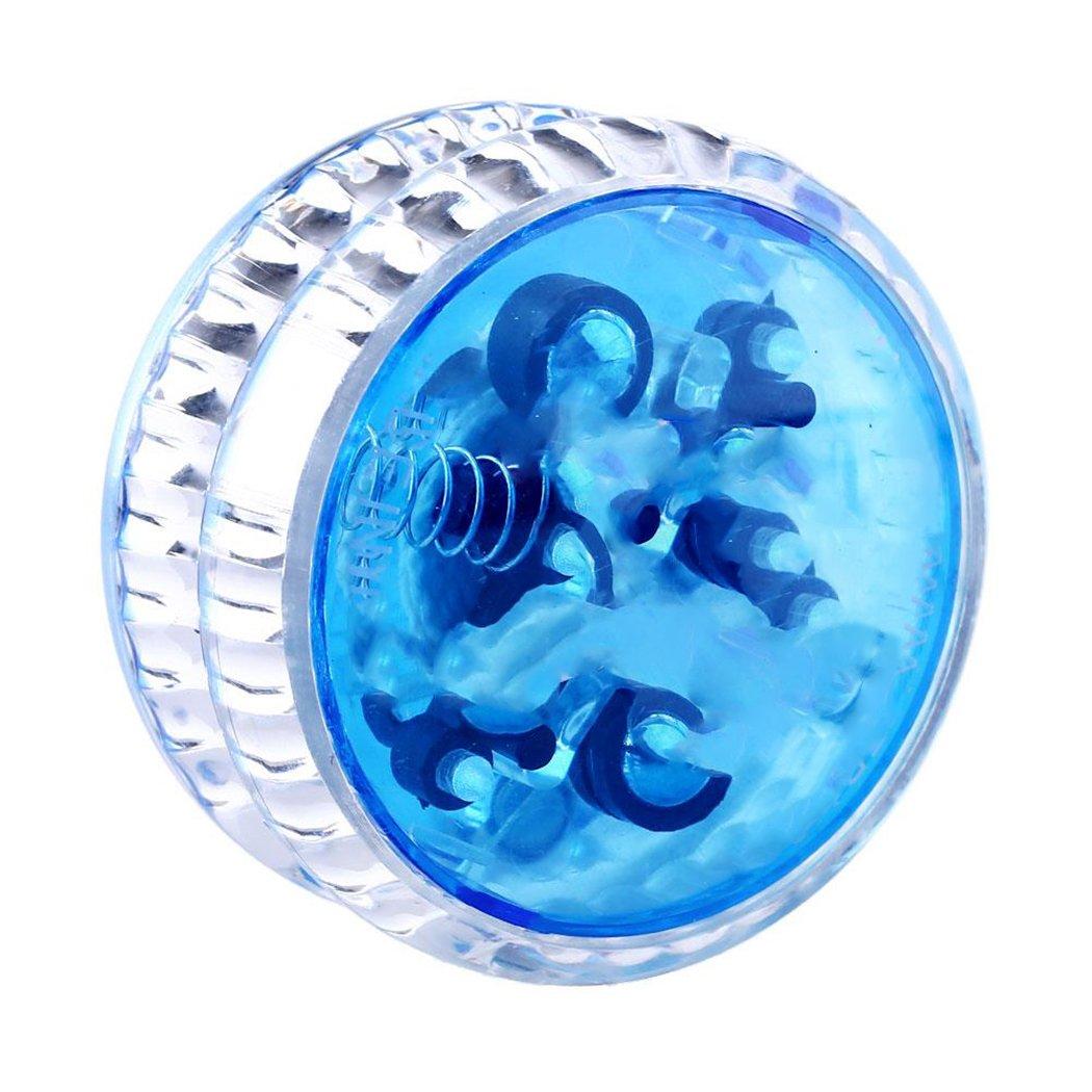 Dozenla Plastic Auto-Return Light up YoYo Balls, Professional Auto-Return with String for Children Kids Adult Toys (Blue)