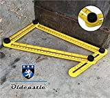 Template Tool, Multi-Angle Measuring Ruler Measures all Angles and Forms, Perfect for builders, craftsmen, engineers and DIY-ers