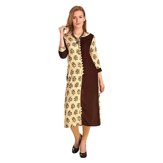 Buy Ms Fashion Black Women Designer Wear Kurtis Medium At Amazon In