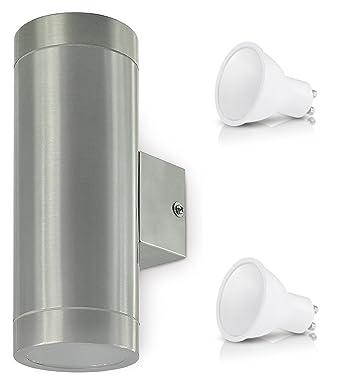 Aussenleuchte Aussenlampe Wandleuchte Edelstahl UP /& Down Oben Unten Wandlampe