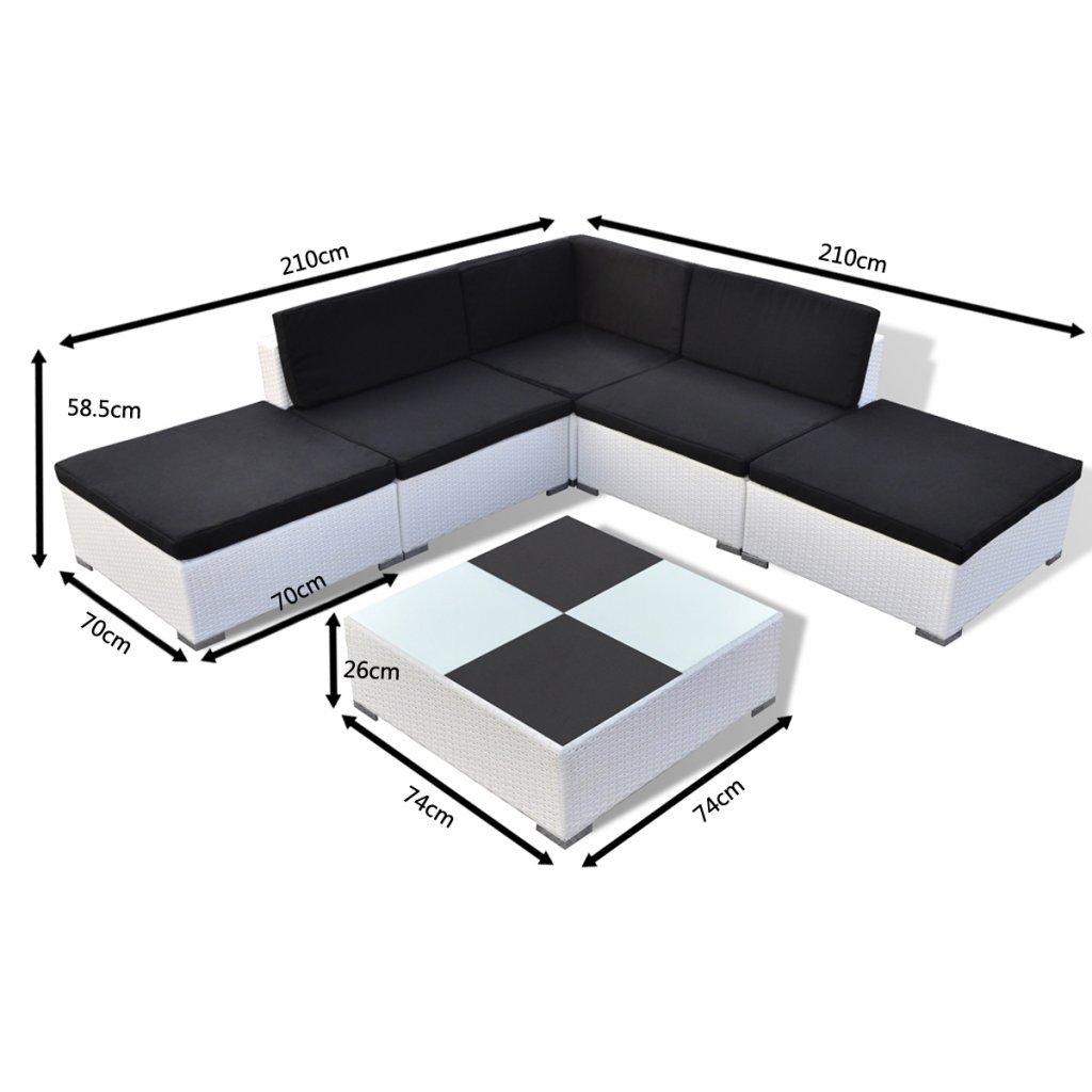 vidaXL Conjunto de Muebles de Jardín 15 Piezas Poli Ratán ...