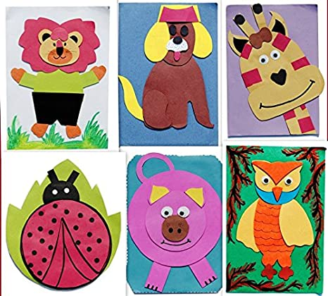 Handmade Birthday Party Invitations Cards With Designer Cartoon Characters Pack Of 6 Amazonin Toys Games