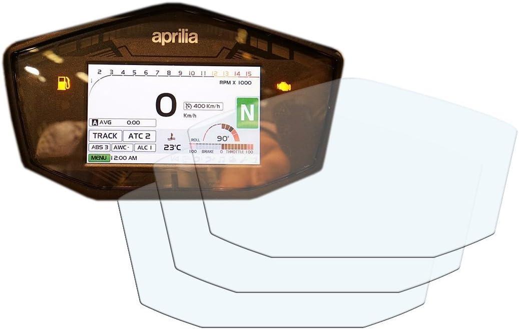 2017 Ultra-Clear Displayschutzfolie Tachoschutzfolie Screen Protector 3 x Aprilia RSV4