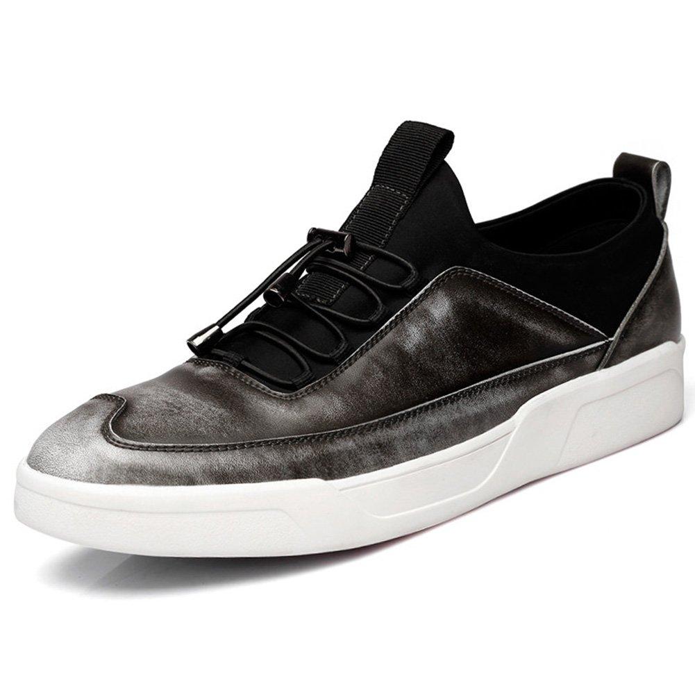 YIXINY Deporte Zapato B02 Primavera Y Otoño La Moda De Estilo Británico De Peso Ligero Transpirable Zapatos Casuales Al Aire Libre Calzado De Hombre ( Color : Gris , Tamaño : EU40/UK7/CN41 ) EU40/UK7/CN41 Gris