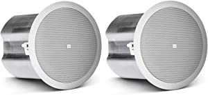 JBL Professional Control 16C/T Two-Way 6.5-Inch Coaxial Ceiling Loudspeaker, White, Sold as Pair