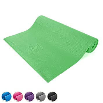 Yamkas Esterilla Yoga Mat PVC 6mm | Antideslizante – Ecologico | Colchoneta Gimnasia | Fitness | Pilates | Yoga Mat