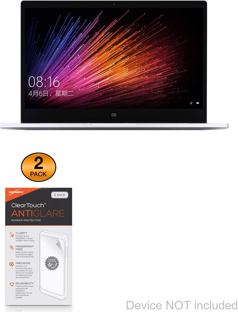 Xiaomi Mi Notebook Air 13.3 Screen Protector, BoxWave [ClearTouch Anti-Glare (2-Pack)] Anti-Fingerprint Matte Film Skin for Xiaomi Mi Notebook Air 13.3, Laptop Air (12.5 in)