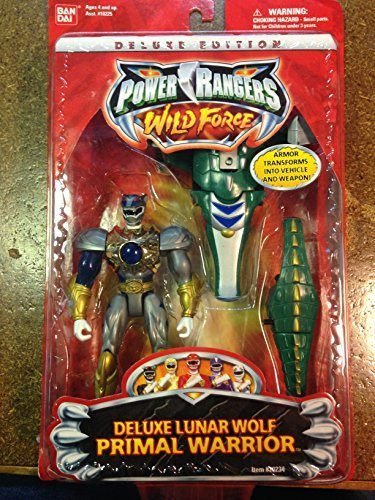 Power Rangers Wild Force 2001 5in DELUXE LUNAR WOLF PRIMAL WARRIOR Action figure (Power Rangers Wild Force Lunar Wolf Ranger)