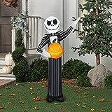 Disney Gemmy Nightmare Before Christmas Jack Skellington Halloween Inflatable 5 Feet Tall