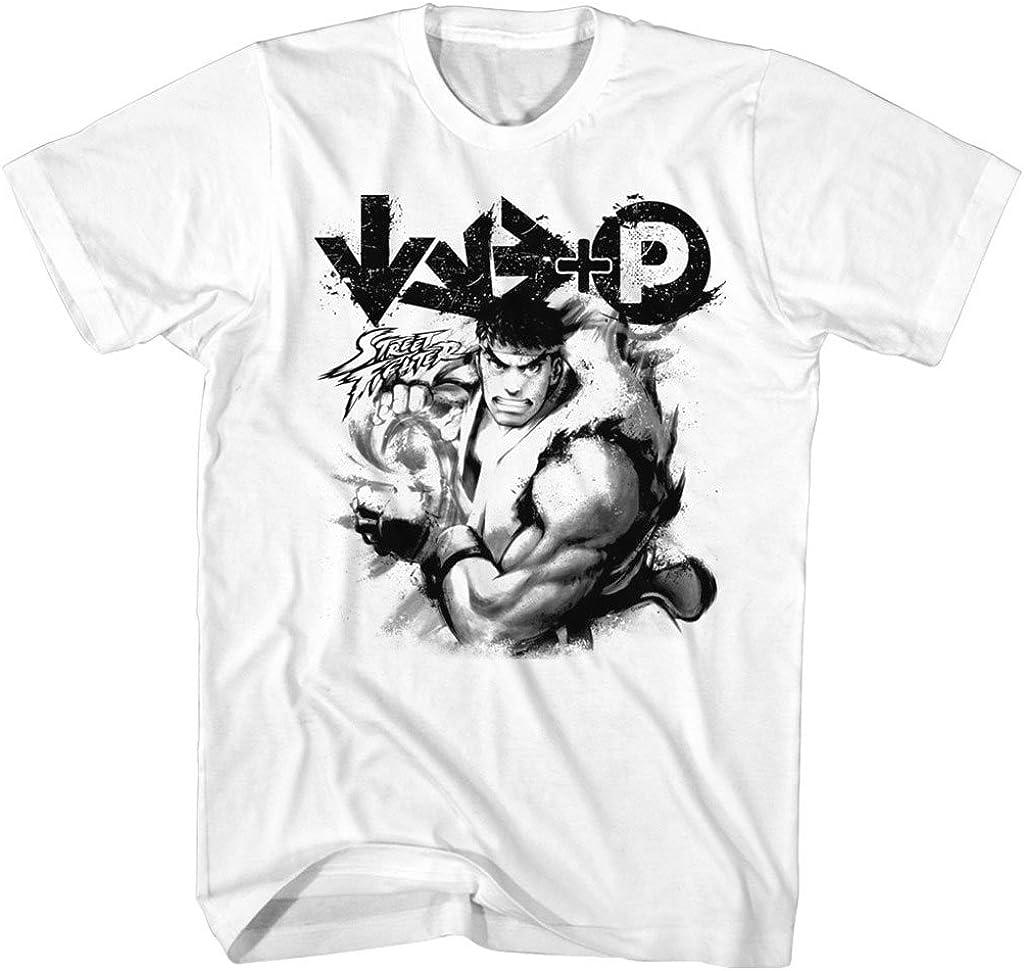 Amazon Com Street Fighter Mens Hadouken T Shirt Clothing