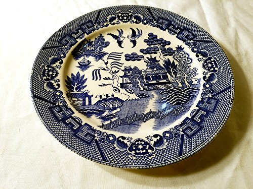 Blue Willow Dinner Plate - Japan Approx 9