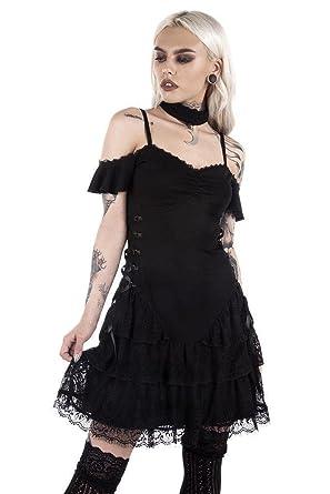 Killstar Ladies Black Magic Corset Dress At Amazon Womens Clothing