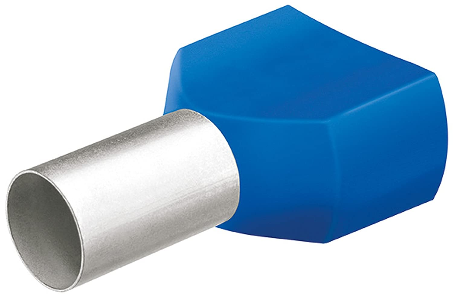 Knipex 97 99 374 Twin Wire-end ferrules with Plastic Collar, Blue