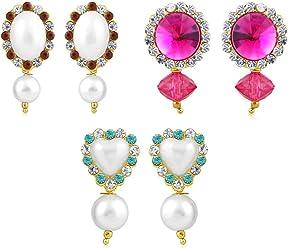Sukkhi Copper Drop Earrings for Women (Golden) (CB70118GLDPD500)