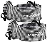fishing rod socks - Spinning Fishing Rod Sleeve Rod Sock Cover 2 Pack By Midwest Outfitters (Black/White)